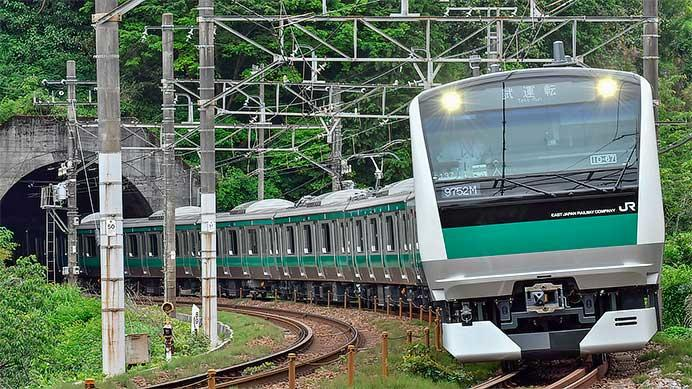 E233系7000番台ハエ137編成が東海道本線で試運転
