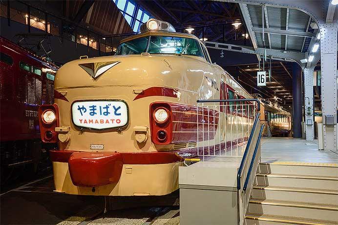 """鉄道博物館の485系に""""やまばと""""ヘッドマーク"""