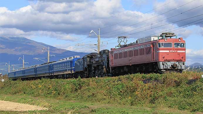 C61と12系が高崎に戻る